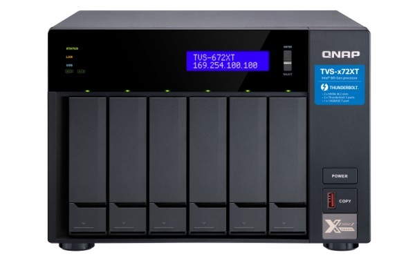 QNAP TVS-672XT-i3-8G 6-Bay 24TB Bundle mit 2x 12TB Gold WD121KRYZ