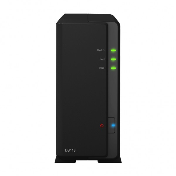 Synology DS118 1-Bay 10TB Bundle mit 1x 10TB Gold WD101KRYZ