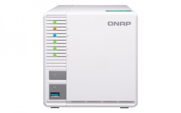 Qnap TS-328 3-Bay 12TB Bundle mit 3x 4TB Red WD40EFAX