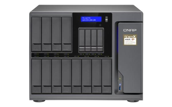 Qnap TS-1677X-1600-8G 16-Bay 168TB Bundle mit 12x 14TB IronWolf ST14000VN0008