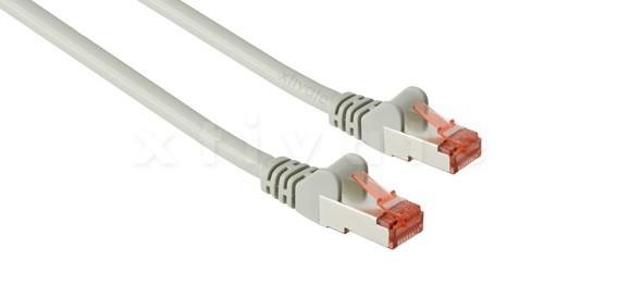 Patchkabel, S-FTP Cat6a, 10GBit, doppelt geschirmt, PiMF, 3m, grau