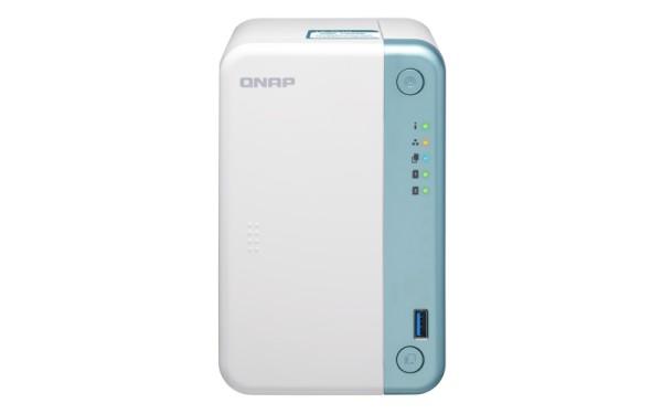 Qnap TS-251D-8G 2-Bay 16TB Bundle mit 2x 8TB Red Plus WD80EFBX