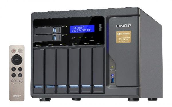 Qnap TVS-882T-i5-16G 8-Bay 8TB Bundle mit 2x 4TB Red WD40EFAX
