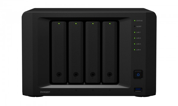 Synology DVA3221 4-Bay 8TB Bundle mit 4x 2TB Gold WD2005FBYZ