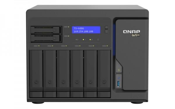 QNAP TS-h886-D1622-16G 8-Bay 16TB Bundle mit 2x 8TB Red Plus WD80EFBX