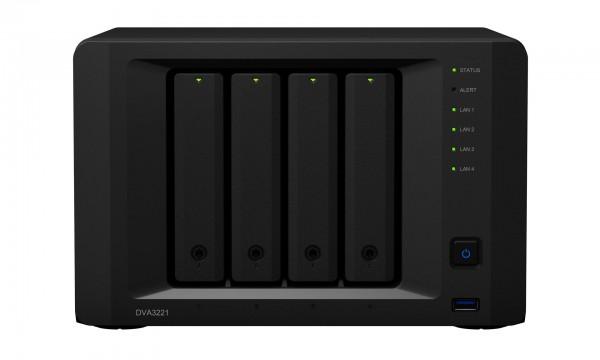 Synology DVA3221 4-Bay 56TB Bundle mit 4x 14TB Red Plus WD14EFGX