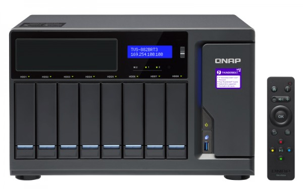 Qnap TVS-882BRT3-ODD-i7-32G 8-Bay 16TB Bundle mit 8x 2TB IronWolf ST2000VN004