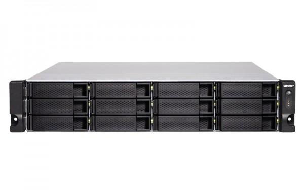 Qnap TS-1277XU-RP-2600-8G 12-Bay 48TB Bundle mit 6x 8TB IronWolf ST8000VN0022