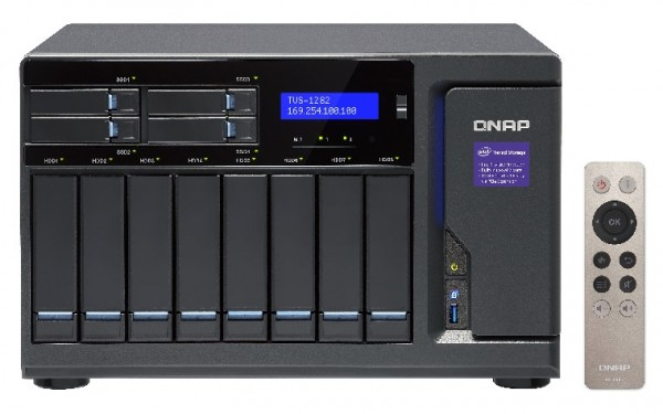 Qnap TVS-1282-i7-32G 12-Bay 112TB Bundle mit 8x 14TB IronWolf Pro ST14000NE0008