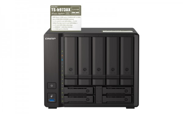 QNAP TS-h973AX-16G Qnap RAM 9-Bay 2TB Bundle mit 1x 2TB Gold WD2005FBYZ