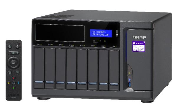 Qnap TVS-882BRT3-ODD-i5-16G 8-Bay 96TB Bundle mit 8x 12TB IronWolf ST12000VN0007