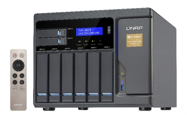 Qnap TVS-882T-i5-16G 8-Bay 50TB Bundle mit 5x 10TB IronWolf ST10000VN0008