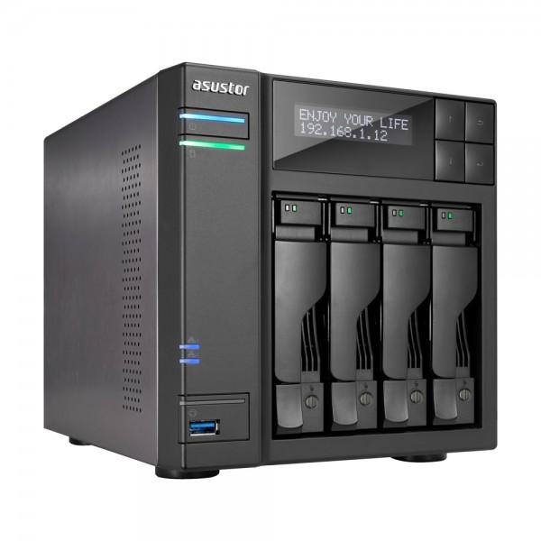 Asustor AS7004T-I3 4-Bay 24TB Bundle mit 2x 12TB Gold WD121KRYZ