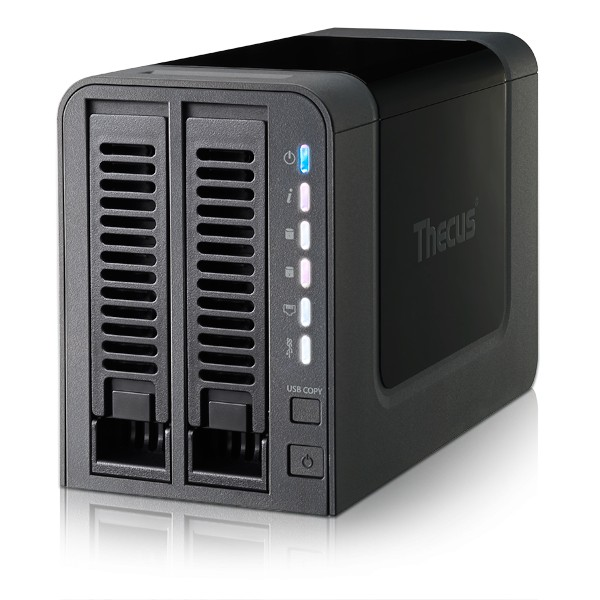 Thecus N2310 2-Bay 4TB Bundle mit 1x 4TB Red WD40EFRX