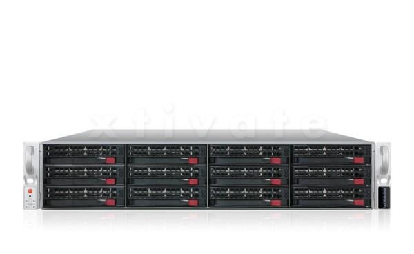 exomium expansion storage 212E R4-640 Rackmount 2HE mit 24TB (6x 4TB)