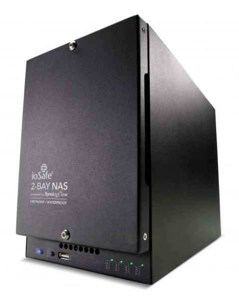 ioSafe NAS 218, 1x Gb LAN, 8TB (2x4TB) Enterprise HDD, 1 Jahr DRS Pro (218-E8TB1YRPRO-EU)
