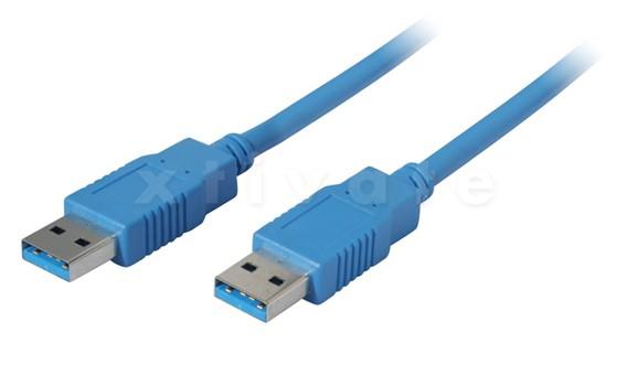USB Kabel A Stecker zu A Stecker 3 m, blau (USB 3.0, 2.0 und 1.1)