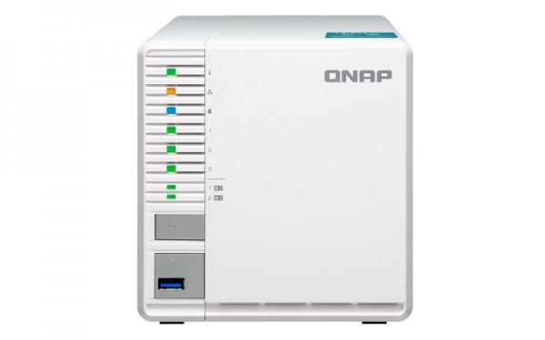 Qnap TS-351-2G 3-Bay 12TB Bundle mit 3x 4TB Red WD40EFRX
