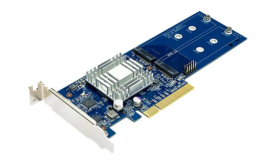 Synology M2D18 SSD-Cache-Adapter, PCIe 2.0 x8, 2x M.2