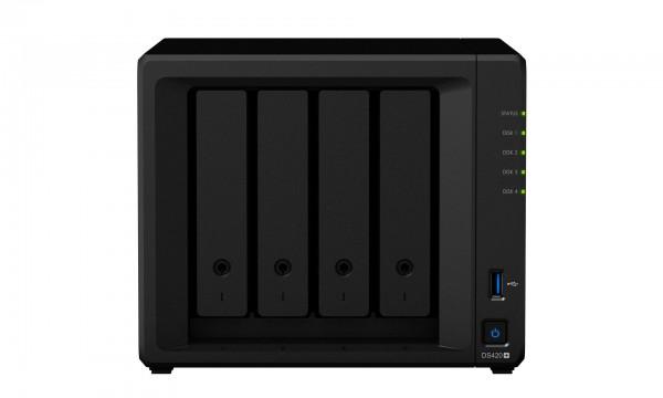 Synology DS420+(6G) Synology RAM 4-Bay 48TB Bundle mit 4x 12TB Red Plus WD120EFBX