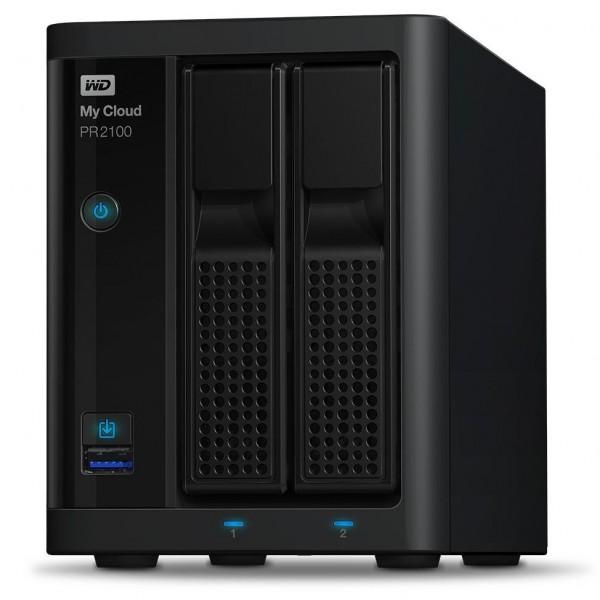 Western Digital My Cloud PR2100 2-Bay 24TB Bundle mit 2x 12TB Red Plus WD120EFBX