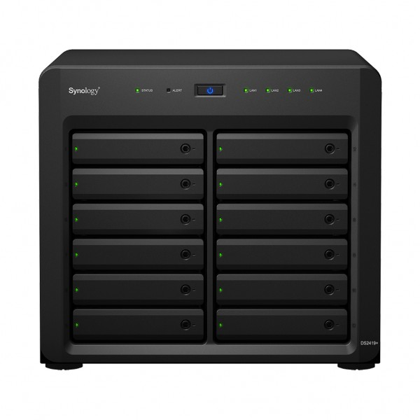 Synology DS2419+II(4G) 12-Bay 48TB Bundle mit 12x 4TB Gold WD4003FRYZ