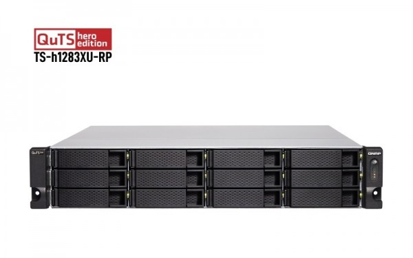QNAP TS-h1283XU-RP-E2236-128G 12-Bay 72TB Bundle mit 12x 6TB Gold WD6003FRYZ
