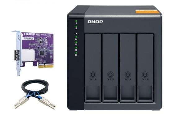 QNAP TL-D400S 4-Bay 20TB Bundle mit 2x 10TB Red Plus WD101EFBX