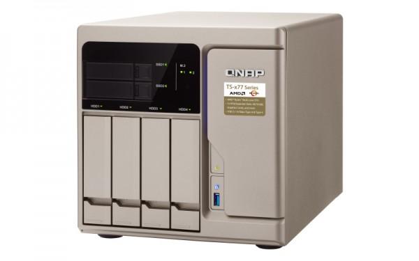 Qnap TS-677-1600-8G 4-Bay 12TB Bundle mit 2x 6TB IronWolf Pro ST6000NE0023