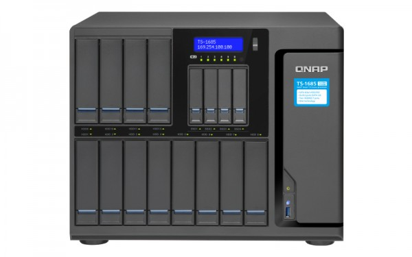 Qnap TS-1685-D1531-64GR 16-Bay 96TB Bundle mit 12x 8TB Red Pro WD8003FFBX