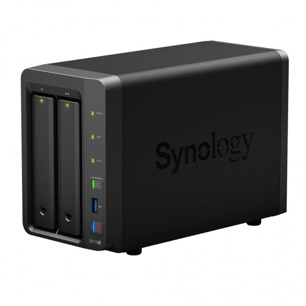 Synology DS718+ 2-Bay 4TB Bundle mit 2x 2TB Red WD20EFAX
