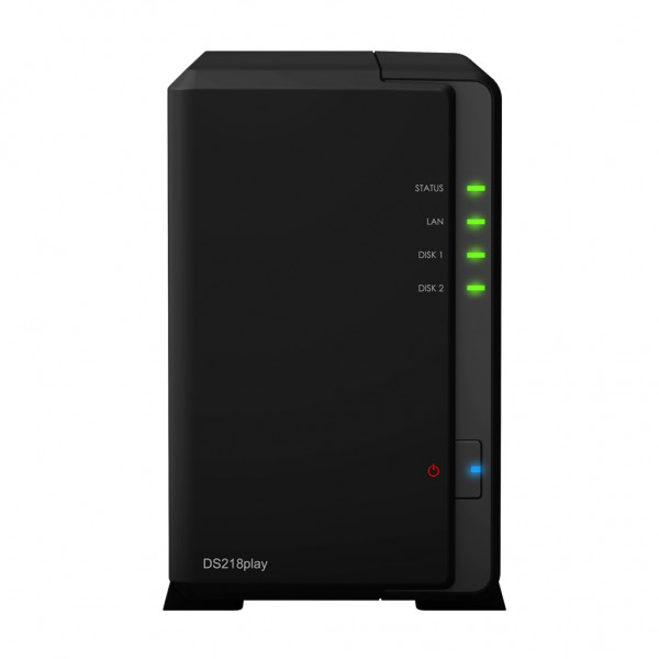 Synology DS218play 2-Bay 2TB Bundle mit 2x 1TB Red WD10EFRX