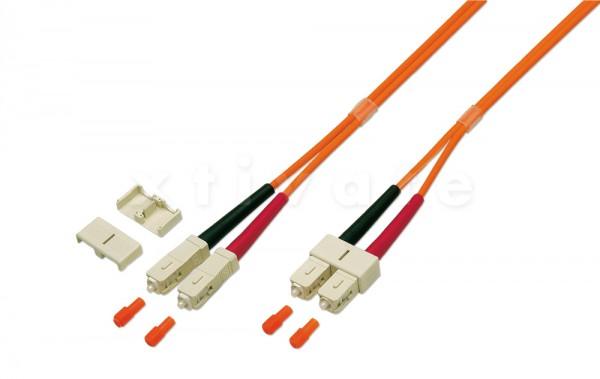 Patchkabel LWL duplex, 50/125µm, SC-SC, 5m