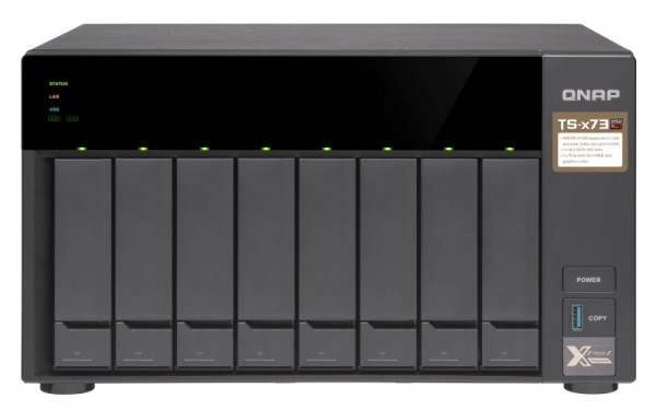 Qnap TS-873-64G 8-Bay 10TB Bundle mit 5x 2TB Red WD20EFAX