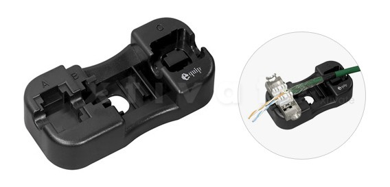 Montage-Fixierhilfe für Keystone Jacks, equip