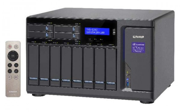 Qnap TVS-1282-i3-8G 3.7GHz 12-Bay NAS 24TB Bundle mit 8x 3TB WD30EFRX WD Red
