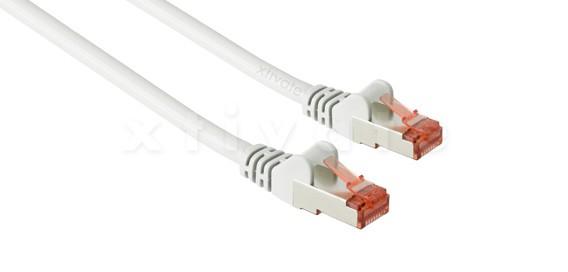 Patchkabel, S-FTP Cat6a, 10GBit, doppelt geschirmt, PiMF, 1m, weiss