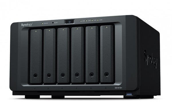 Synology DS1618+(8G) 6-Bay 5TB Bundle mit 5x 1TB Red WD10EFRX