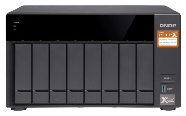 Qnap TS-832X-8G 8-Bay 64TB Bundle mit 8x 8TB Red WD80EFAX