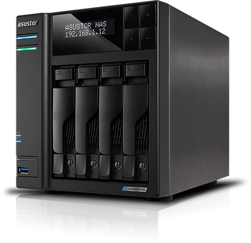 Asustor AS6604T 4-Bay 24TB Bundle mit 2x 12TB Red Plus WD120EFBX