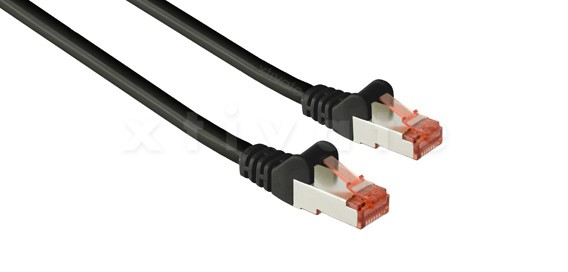 Patchkabel, S-FTP Cat6a, 10GBit, doppelt geschirmt, PiMF, 10m, schwarz