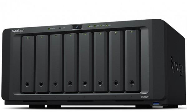 Synology DS1821+(16G) Synology RAM 8-Bay 16TB Bundle mit 2x 8TB Red Plus WD80EFBX