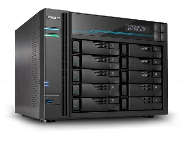 Asustor AS7110T 10-Bay 54TB Bundle mit 9x 6TB Gold WD6003FRYZ