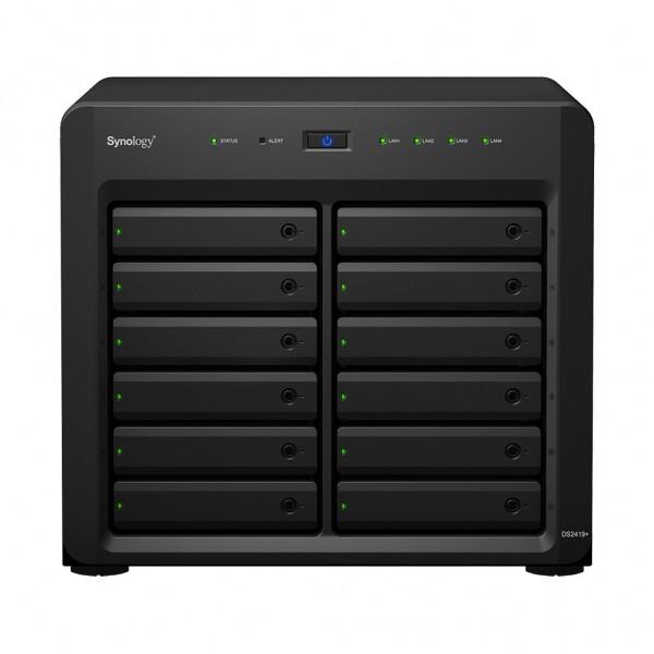 Synology DS2419+ 12-Bay 120TB Bundle mit 12x 10TB Gold WD102KRYZ