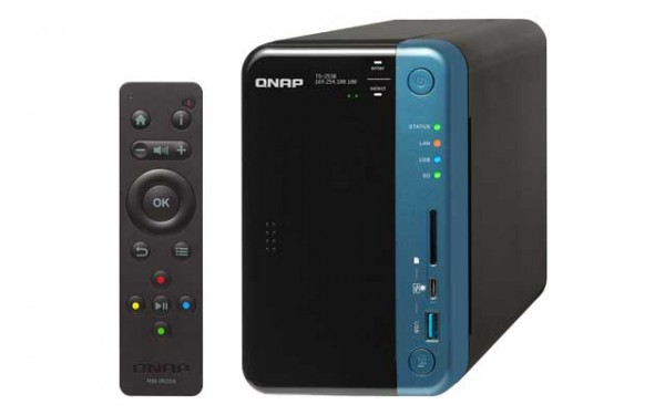 Qnap TS-253B-4G 2-Bay 8TB Bundle mit 1x 8TB Red Pro WD8003FFBX