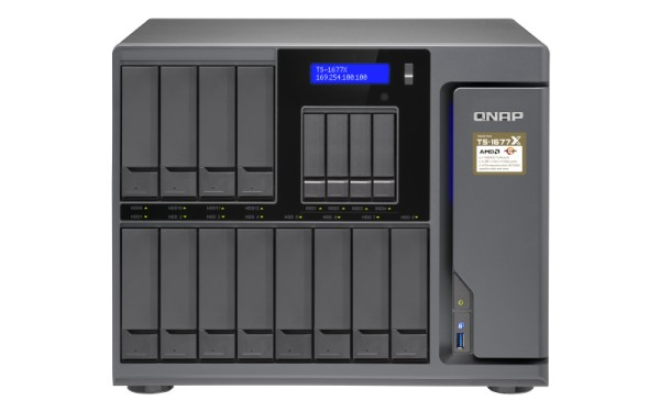 Qnap TS-1677X-1700-16G 16-Bay 36TB Bundle mit 6x 6TB Red Pro WD6002FFWX