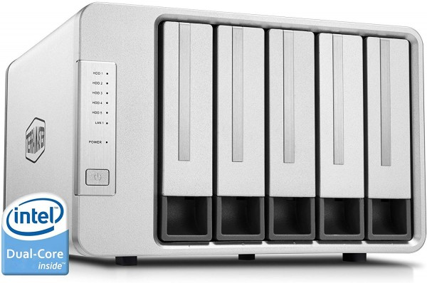 TerraMaster F5-221 5-Bay 20TB Bundle mit 5x 4TB Red WD40EFAX