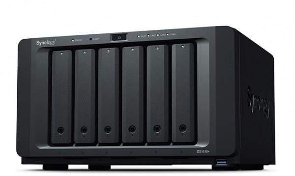 Synology DS1618+(4G) 6-Bay 10TB Bundle mit 5x 2TB IronWolf Pro ST2000NE0025
