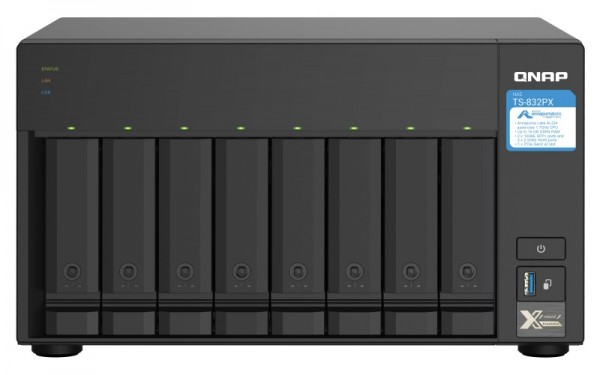 QNAP TS-832PX-16G Qnap RAM 8-Bay 64TB Bundle mit 8x 8TB Red Plus WD80EFBX