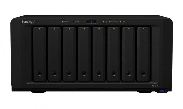 Synology DS1819+ 8-Bay 5TB Bundle mit 5x 1TB Red WD10EFRX